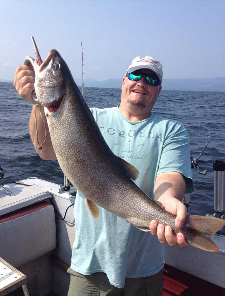West Shore Charters - Fishing - Lake Champlain - Peru, Plattsburgh New York - salmon, lake trout, brown trout, steelhead, northern pike, muskie, large and smallmouth bass, walleye, perch